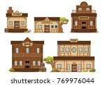 a set contains various western... | Shutterstock .eps vector #769976044