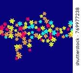vector confetti background... | Shutterstock .eps vector #769977238