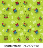 vector seamless pattern ... | Shutterstock .eps vector #769979740