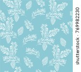 christmas seamless pattern with ...   Shutterstock .eps vector #769982230