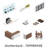 isometric 3d vector... | Shutterstock .eps vector #769984438