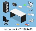 isometric 3d vector... | Shutterstock .eps vector #769984450