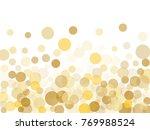 gold confetti circle decoration ... | Shutterstock . vector #769988524