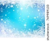 christmas snowflakes on... | Shutterstock .eps vector #769989133