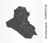 iraq map isolated on... | Shutterstock .eps vector #769993720
