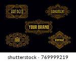 vintage badges modern... | Shutterstock .eps vector #769999219