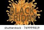 black friday concept. 3d... | Shutterstock . vector #769999819