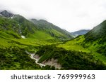 green landscape with water... | Shutterstock . vector #769999963