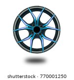 alloy wheels on white | Shutterstock . vector #770001250
