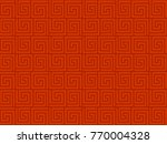 red chinese oriental pattern  | Shutterstock .eps vector #770004328