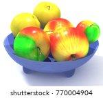 3d rendering of apples in the... | Shutterstock . vector #770004904