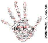 vector conceptual depression or ...   Shutterstock .eps vector #770007538