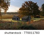a misty morning at valley forge ... | Shutterstock . vector #770011783