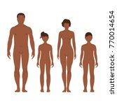 african man  woman  boy and... | Shutterstock .eps vector #770014654