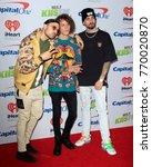 Small photo of LOS ANGELES - DEC 2: Cheat Codes, Matthew Russell, Trevor Dahl, KEVI at the Jingle Ball 2017 at the Forum on December 2, 2017 in Inglewood, CA