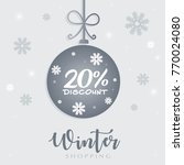 winter sale 20 discount concept ... | Shutterstock .eps vector #770024080