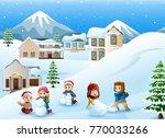 vector illustration of cartoon... | Shutterstock .eps vector #770033266
