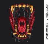beast mouth open illustration.  | Shutterstock .eps vector #770033650