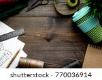 in sewing workshop. textile ... | Shutterstock . vector #770036914