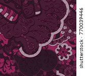 tracery seamless pattern.... | Shutterstock .eps vector #770039446
