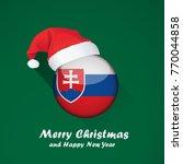 flag of slovakia. merry...   Shutterstock .eps vector #770044858
