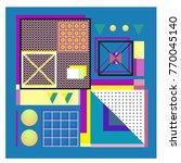 trendy geometric elements... | Shutterstock .eps vector #770045140
