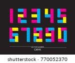 number cmyk vector | Shutterstock .eps vector #770052370