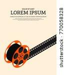 movie and film modern retro... | Shutterstock .eps vector #770058328