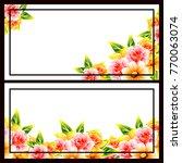 vintage delicate invitation... | Shutterstock . vector #770063074