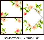 vintage delicate invitation... | Shutterstock . vector #770063104