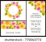 vintage delicate invitation... | Shutterstock .eps vector #770063773