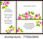 vintage delicate invitation...   Shutterstock .eps vector #770063800