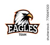 eagles team sport badge logo | Shutterstock .eps vector #770069320