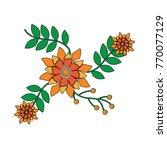 blooming spring flowers... | Shutterstock .eps vector #770077129
