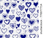seamless background with doodle ... | Shutterstock .eps vector #770077714