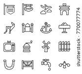 thin line icon set   shop...   Shutterstock .eps vector #770077774