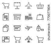 thin line icon set   cart ... | Shutterstock .eps vector #770077804