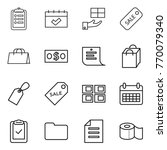 thin line icon set   clipboard  ... | Shutterstock .eps vector #770079340
