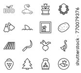 thin line icon set   bio ... | Shutterstock .eps vector #770079376