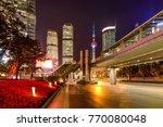 century avenue at night   a... | Shutterstock . vector #770080048