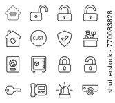 thin line icon set   wireless... | Shutterstock .eps vector #770083828