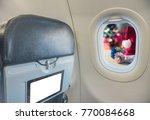 image of plane window and... | Shutterstock . vector #770084668