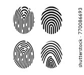 collection of finger print | Shutterstock .eps vector #770086693