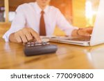 businessman analyzing... | Shutterstock . vector #770090800