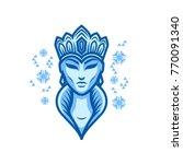 snow queen logo | Shutterstock .eps vector #770091340