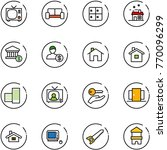 line vector icon set   tv... | Shutterstock .eps vector #770096299