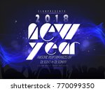 happy new year  creative... | Shutterstock .eps vector #770099350