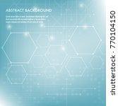 minimal design  the hexagonal...   Shutterstock .eps vector #770104150
