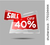 sale 40  vector sale discount... | Shutterstock .eps vector #770104444