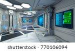 3d cg rendering of the space... | Shutterstock . vector #770106094